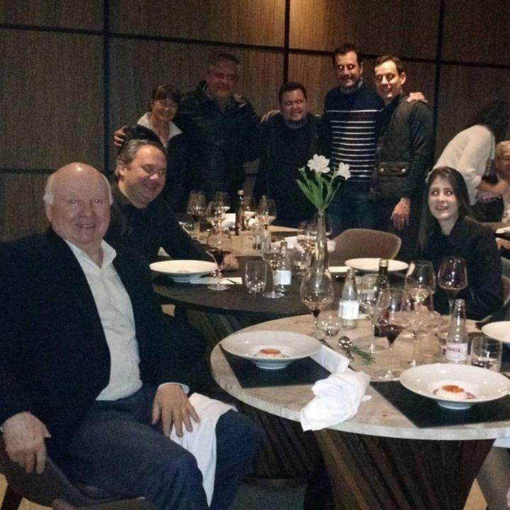 Com meus amigos da FISAR, o enólogo da Luiz …