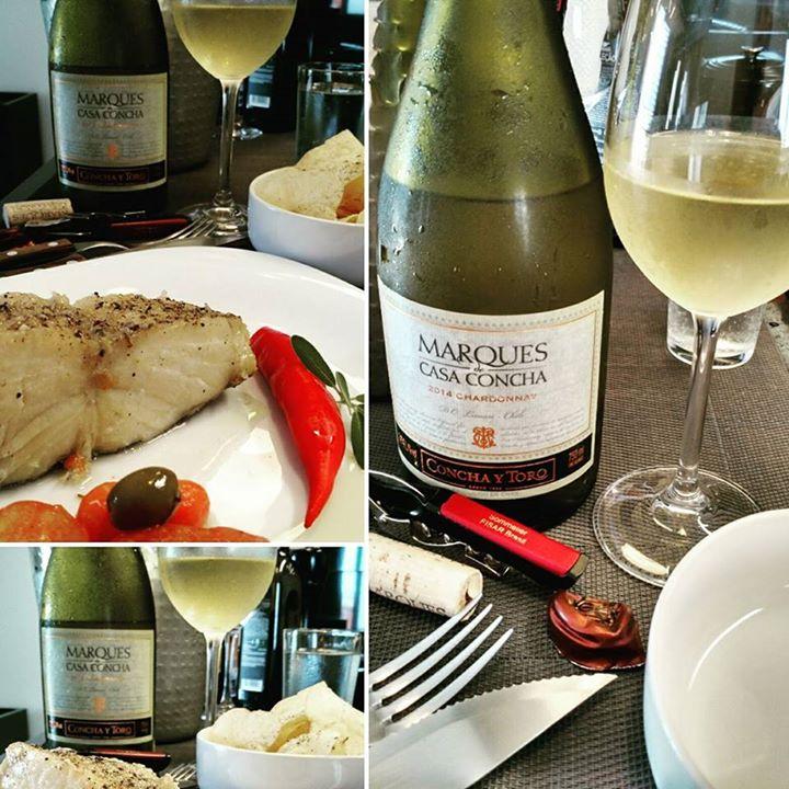 Bacalhau e um ilustre Chardonnay clássico do …