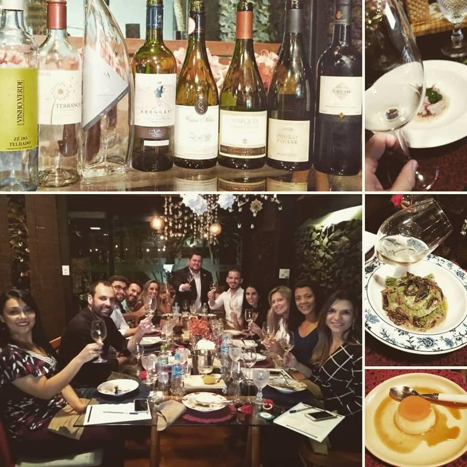 Entre brancos Sauvignon Blanc e Chardonnay, mais uma noite harmoniosa…