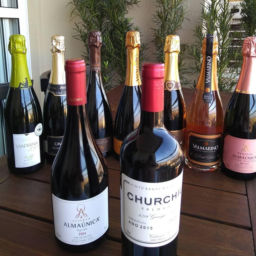 Os vinhos que trouxe na mala